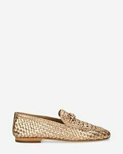 Loafer-gewebtes-Leder-Kupfer