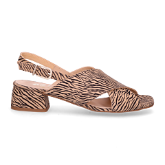 YARA-Sandalette-4CM-zebra-printed-leather-black-beige-