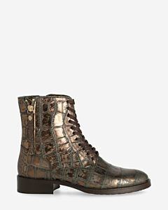 Metallic-Schnürstiefel-Anthrazit