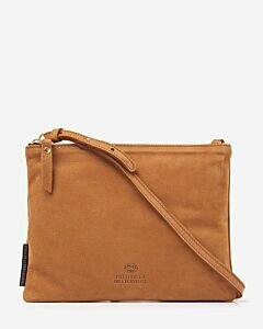 Crossbody natural tanned leather cognac