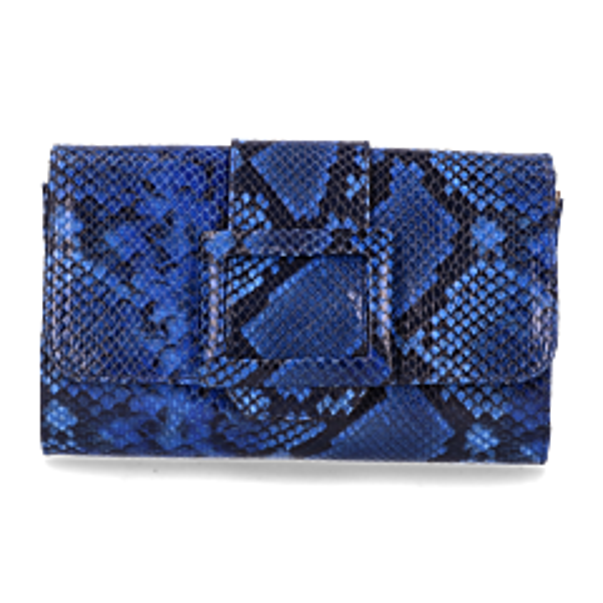 Clutch-gemustertes-Leder-kobaltblau