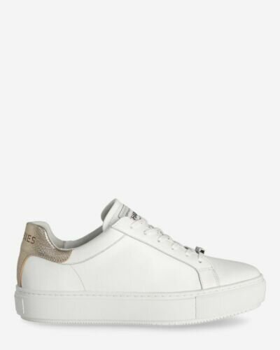 Sneaker smooth leather white gold