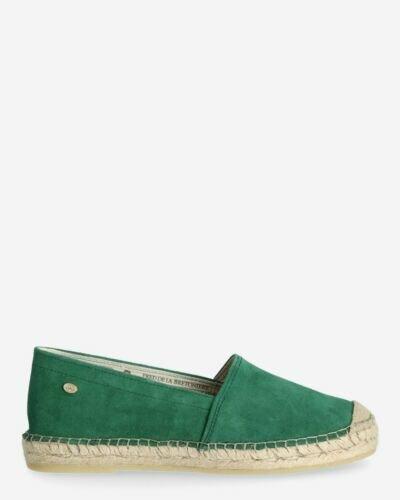 Espadrille loafer suede green