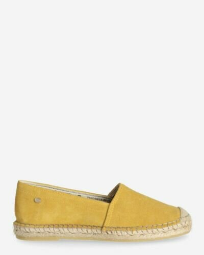 Espadrille loafer suede yellow