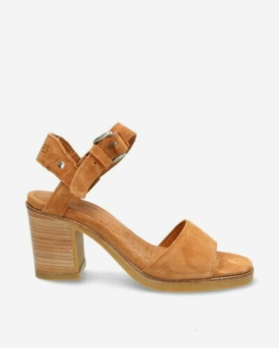 Light brown suede strappy sandal
