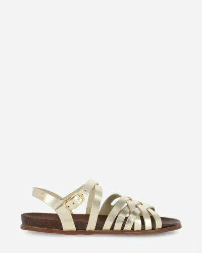 Sandale Glattleder Gold