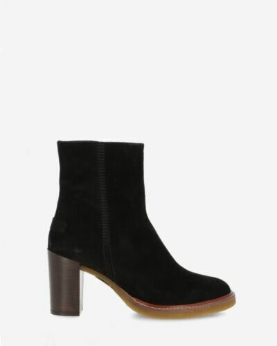 Ankle boot suede black