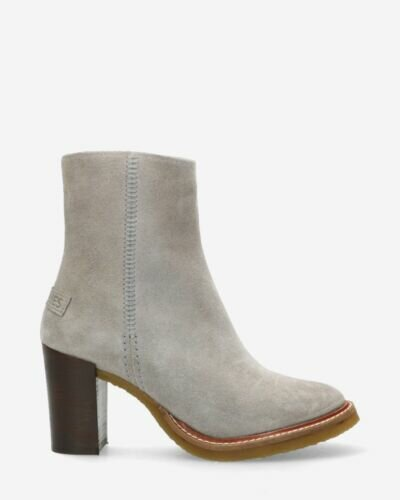 Ankle boot suede light grey