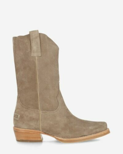 Westernboot suede taupe