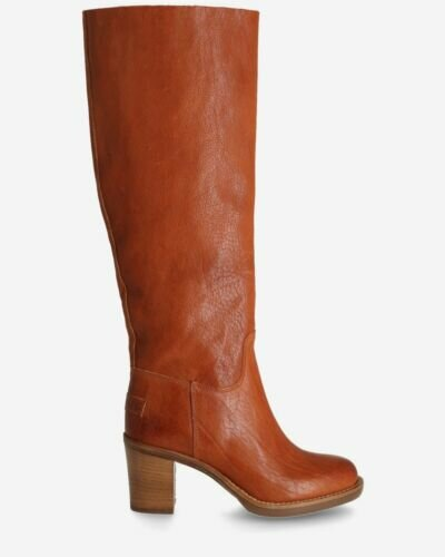 Leather boot Cognac