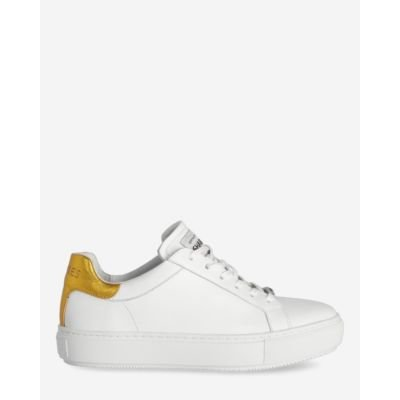 Sneaker-smooth-leather-white-yellow