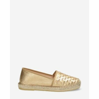 Fred de la Bretoniere 50th anniversary espadrille loafer gold