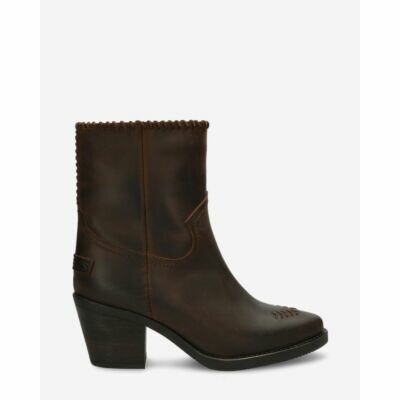 Western-ankle-boot-dark-brown