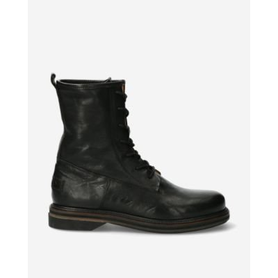 Biker boots smooth leather black
