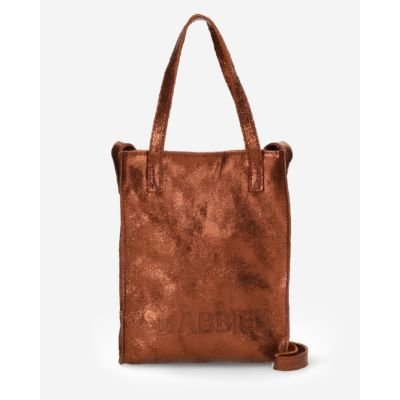 Small-shopper-vegetable-metallic-leather-brown