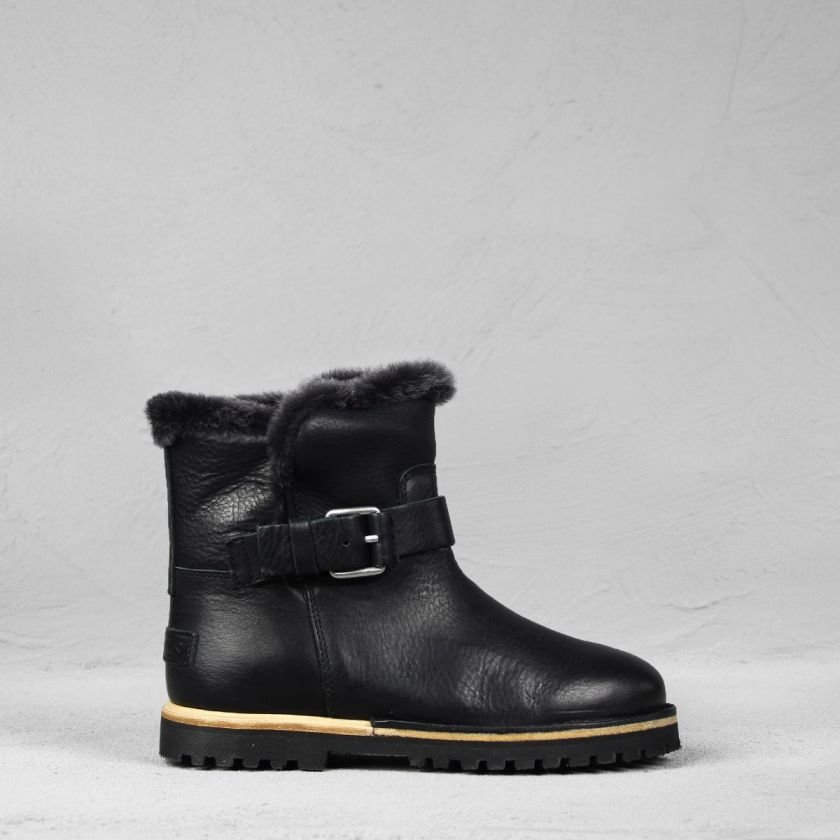 cad8129ba92 Ankle boot grain leather Black | Shabbies Amsterdam