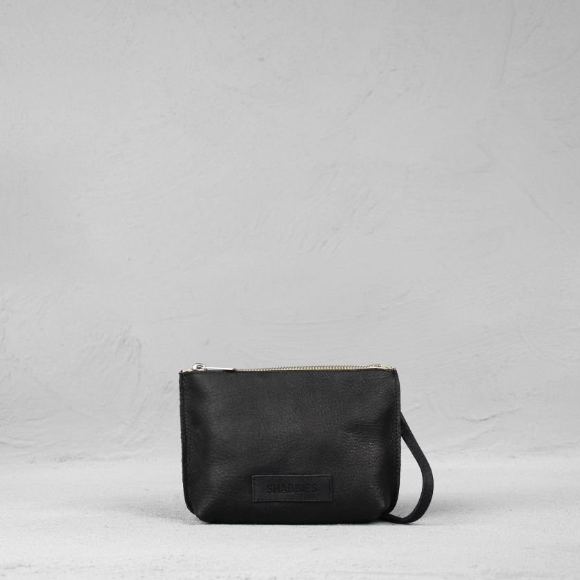 Shoulderbag-hand-buffed-leather-Black