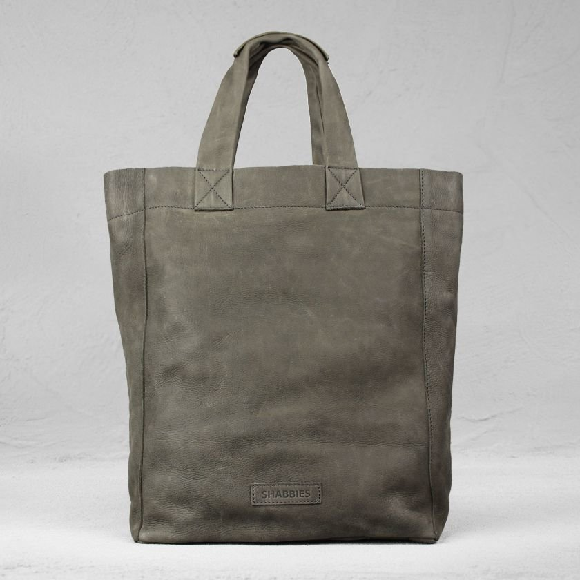 Shoulderbag-heavy-grain-leather-Taupe