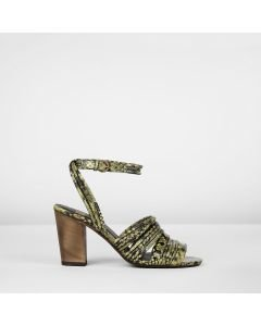 SANDALET-SNAKE-PRINT-LEATHER-Green
