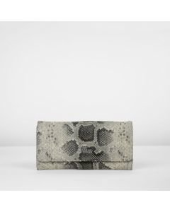 WALLET MEDIUM FAUX PYTHON LEATHER Taupe