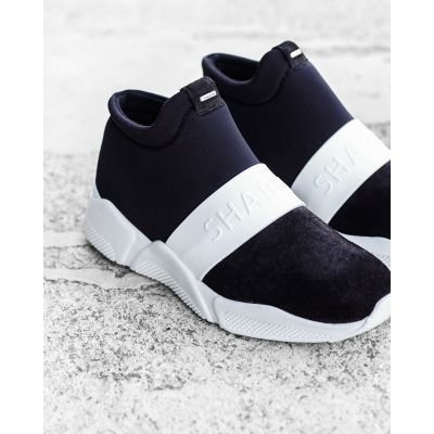 Sneaker-smooth-leather-and-neoprene-Black-