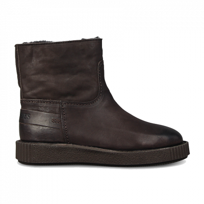Ankle-boot-grain-leather-Dark-Brown