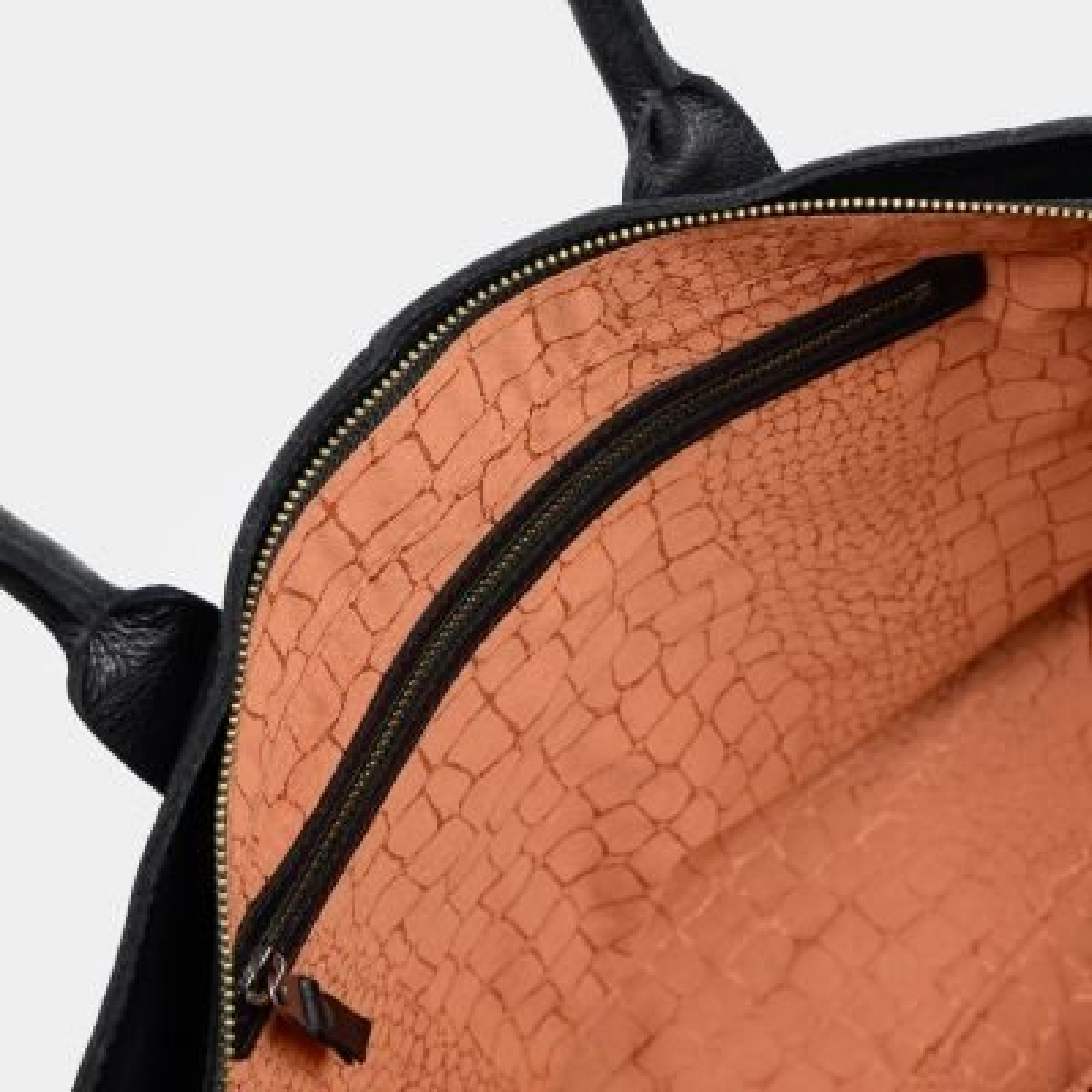 Handtasche-Strukturleder-Schwarz