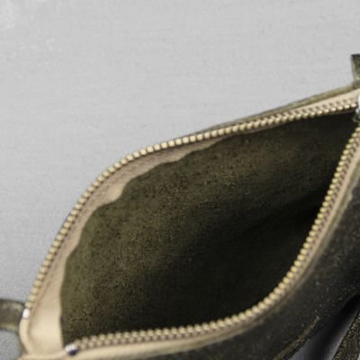 Shoulderbag-metallic-printed-Leather-Dark-Olive