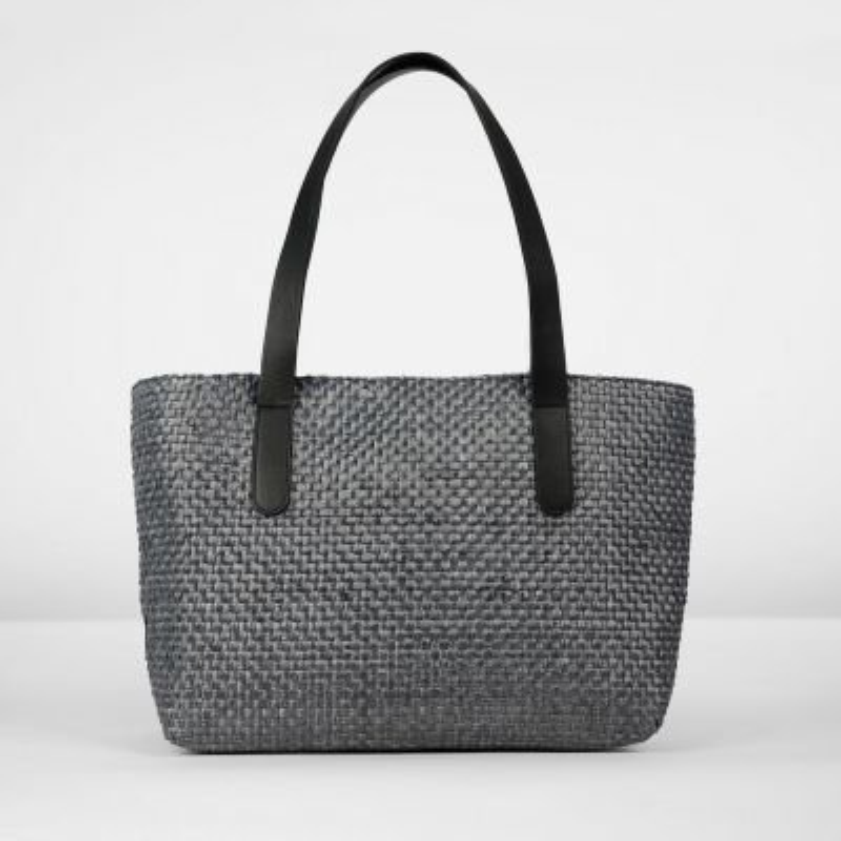 Shoulderbag-woven-fiber-Black